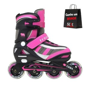 Patins Traxart Energy Infanto Juvenil Rosa