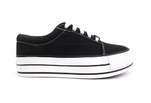 TENIS BREAK PLATAFORM CANVAS PRETO