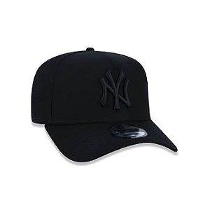 BONÉ 9FORTY A-FRAME ABA CURVA AJUSTÁVEL MLB NEW YORK YANKEES BASIC PRETO