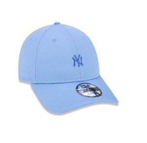 BONÉ 9FORTY ABA CURVA AJUSTÁVEL MLB NEW YORK YANKEES BASIC AZUL CLARO