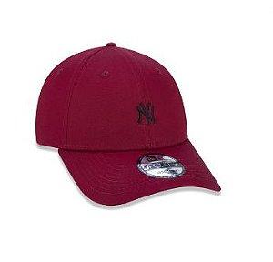 BONÉ 9FORTY ABA CURVA AJUSTÁVEL MLB NEW YORK YANKEES BASIC VERMELHO ESCURO