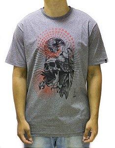 Camiseta Mcd Eagle Skull Cinza