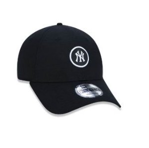 BONÉ 9FORTY ABA CURVA AJUSTÁVEL MLB NEW YORK YANKEES ESSENTIALS ROUND PRETO