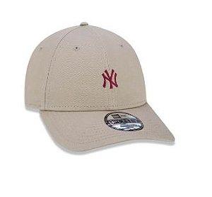 BONÉ ABA CURVA AJUSTÁVEL MLB NEW YORK YANKEES BASIC BEGE