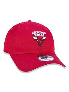 BONÉ 9TWENTY ABA CURVA AJUSTÁVEL NBA CHICAGO BULLS BASIC VERMELHO