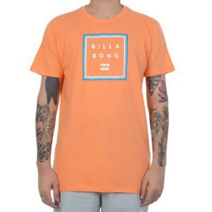 Camiseta Billabong Stacker Masculina - Laranja