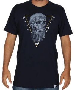 CAMISETA LONG TEE CAVEIRA HD Azul