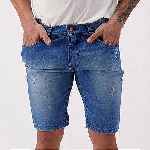 Bermuda Jeans HD médio Azul