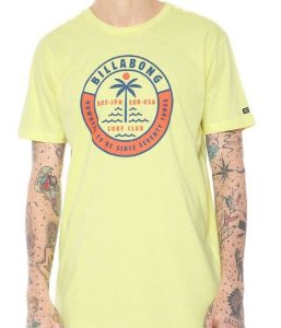 CAMISETA BILLABONG SEASHORE AMARELA