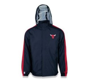 Jaqueta Corta Vento (Windbreaker) Chicago Bulls Nba Preto New Era
