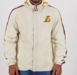 Jaqueta NBA Windbreak Los Angeles Lakers Off White