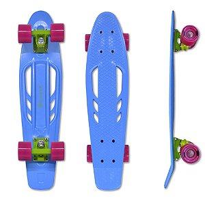 Skate Mini Cruiser Vazado Traxart Azul