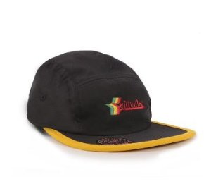 Bone CHRONIC FIVE PANEL PRETO COM AMARELO