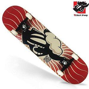 Skate Black Sheep Montado Completo Preto Vermelho