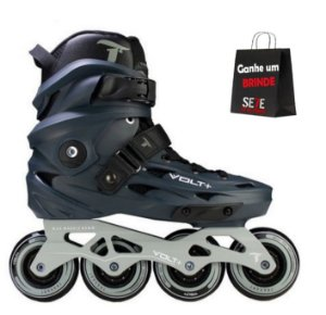 PATINS INLINE FREESTYLE TRAXART VOLT GRAFITE 80MM ABEC-9