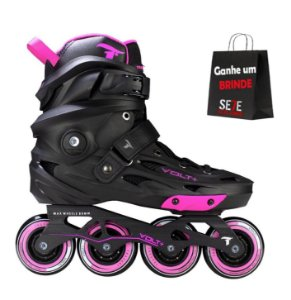 PATINS INLINE FREESTYLE TRAXART VOLT ROSA 80MM ABEC-9