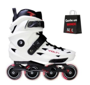 PATINS INLINE FREESTYLE TRAXART VOLT BRANCO 80MM ABEC-9