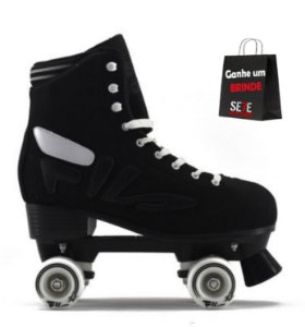 Patins FILA Quad Logo Black Abec 5