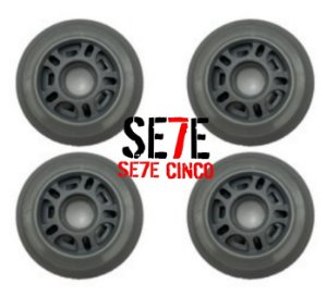 Rodas P/ Patins Roller Inline 80mm/82a Cinza kit 04 Unidades