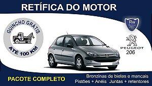 Retífica de motor Peugeot 206 1.4 8v Pacote Completo