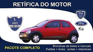 Retífica de motor Ford Ka 1.0, 1.3, 1.6 - Pacote Completo