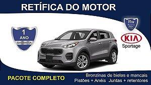 Retífica de Motor Kia Sportage 2.0 Pacote Completo