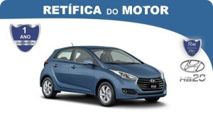 Retífica de motor Hyundai HB20 pacote econômico