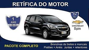 Retífica de motor Chevrolet Spin Pacote Completo