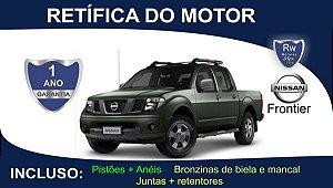 Retífica de motor Nissan Frontier Turbo Diesel Pacote Completo