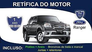 Retífica de motor Ford Ranger Turbo Diesel Pacote Completo