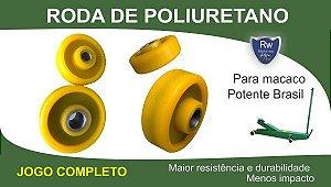 Roda de Poliuretano Macaco Jacaré Potente Brasil - jogo com 4