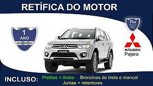 Retífica de motor Mitsubishi Pajero Turbo Diesel Pacote Completo