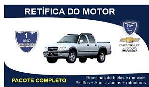 Retífica de motor Chevrolet S10 4.3 V6 12v Gasolina Pacote Completo