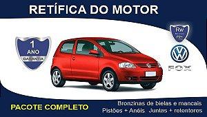 Retífica de motor Volkswagen Fox 1.0 8v EA111 Pacote Completo