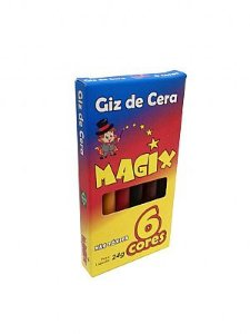 Mini Giz De Cera 6 Cores Magix