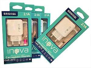 CARREGADOR MICRO USB UNIVERSAL 2.1A INOVA