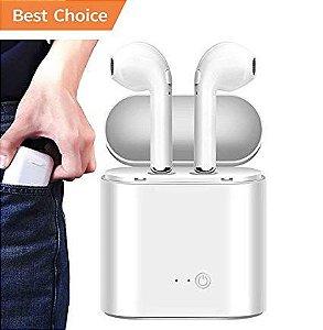 Fone De Ouvido Earpod I7S Bluetooth Branco Ios E Android