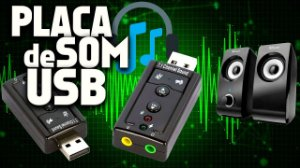 Adaptador de Placa de Som 7.1 Canais USB 2.0 para PCs e Notebooks