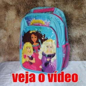 MOCHILA INFANTIL PRINCESAS Material escolar CONFORTÁVEL E RESISTENTE