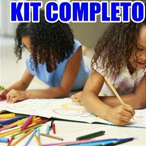 Kit Escolar Com 20 Peças - Leo & Leo completo para estudar e se divertir