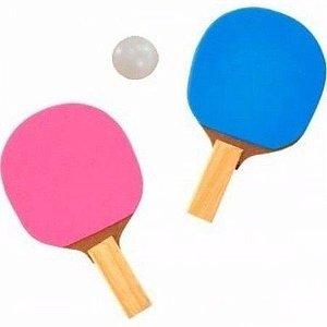 RAQUETE DE PING PONG kit para 2 jogadores pingue pongue com Bolinha Bola Raquetes Infantil Adulto tenis de mesa
