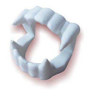 Dentadura de Vampiro Brinquedo para Criança Infantil e Adulto Dente Falso Vampiro Halloween