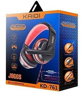 Fone Gamer KAIDI KD761 para PC Ps4 Xbox One e celular