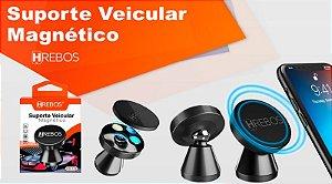 Suporte Veicular Metalizado Magnético HREBOS HS122