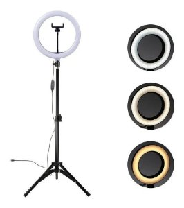 Led Para Videos Ring Light Kit Iluminador 26cm/ 10 Polegadas