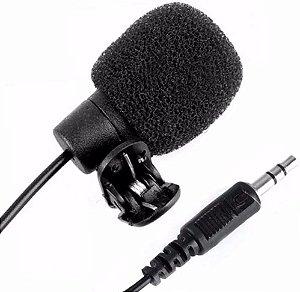 Microfone De Lapela 3,5mm P2 Stereo Youtuber Celular PC XCELL XC-ML-02