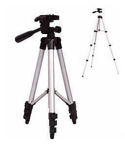 Tripé Alumínio 1.2m Camera Digital D3200 Reflex Rebel T5 H40