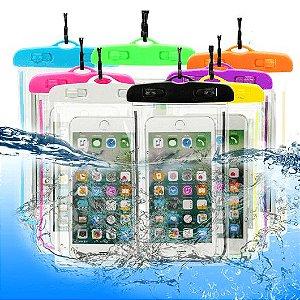 Capa prova dá água para celular com Braçadeira