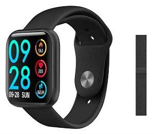 Relógio Smart Watch P80 Batimento Cardíaco C/ Duas Pulseiras com tela touch