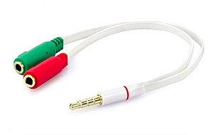 Cabo Adaptador P3 X P2 Y Fone E Microfone Headset